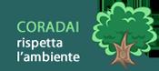Banner Coradai rispetta l'ambiente